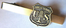 US FOREST SERVICE USDA Dept of Agriculture Forestry Badge TIE BAR CLIP