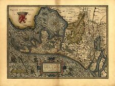 Ortelius Hollandiae The Netherlands Holland Reproduction Antique Map Print NEW