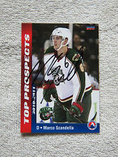 Minnesota Wild Marco Scandella Signed 10/11 AHL Top Pros Houston Aeros Card Auto