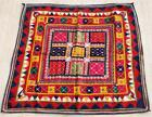 """40"""" x 37"""" Vintage Rabari Throw Embroidery Ethnic Tapestry Tribal Wall Hanging"""