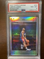 2007-08 LeBron James Topps Chrome refractor # /999 PSA 8 Low Pop Silver #23