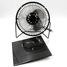 5W Solar Panel Runs 6'' Black Mini Fan Portable Cooling System Ventilation