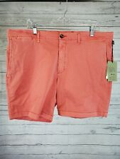 """Goodfellow and Co Mens Linden Shorts Sz 40 Pink Flat Front 7"""" Inseam"""