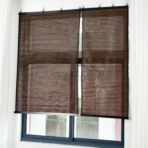 Bamboo Window Blinds Home Bedroom Privacy Shade Curtain Roller Blind  ^