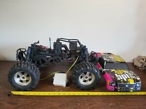 Hpi Savage X 4.6 Nitro Monster 4x4 Truck 1/8 Scale Untested For Parts