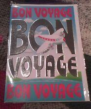 Bon Voyage greetings card - aeroplane