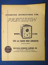PRECISION E-310 OPERATION MANUAL DIAGRAM ORIGINAL FACTORY ISSUE THE REAL THING