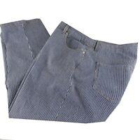 Style & Co Capri Denim Capri Pants Womens Size 14 Blue White Conductor Stripe