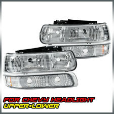 For 1999-2002 Chevy Silverado 2000-2006 Tahoe Suburban Headlights+Signal Lights (Fits: Chevrolet)