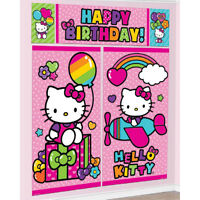 New Hello Kitty WALL POSTER Decoration Kit Scene Setter Birthday Party Supplies~