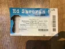 Ed Sheeran The O2 London England Used Concert Ticket 3 May 2017 / Stub gig show