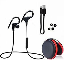 Foho Bluetooth Stereo Bluetooth Earphones With Built-in Mic 3 Pairs Earhooks