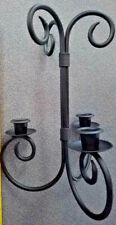 Scrolling Wrought Iron Three Candle Holder