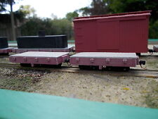 On18 7 1/2 foot Flat Car Kit 2 pack By Railway Recollections (not On30)