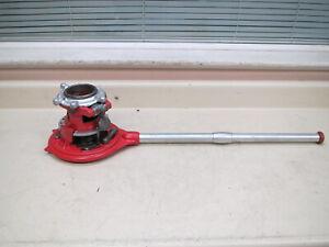 "Ridgid 65R-TC 1""-2"" Adjustable Manual Receding Pipe Threader Used Free Shipping"