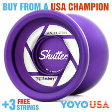 YoYoFactory Shutter Yo-Yo - Matte Purple World Champion + FREE STRINGS