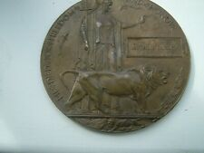 More details for wwi death plaque