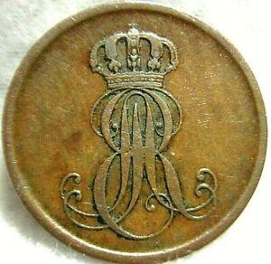 1851-B German States HANNOVER 2 Pfennig ~ KM# 202.1
