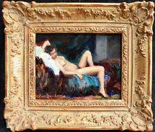 c. 1920 ITALIAN POST IMPRESSIONIST OIL - NUDE GIRL - INDISTINCTLY SIGNED