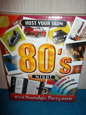 HOST YOUR OWN 80'S PARTY NIGHT - EIGHTIES CD, GAMES, RECIPIES - NEW & SEALED