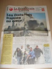 11 SEPTEMBRE 2001 World trade center Attentat Coupure de presse