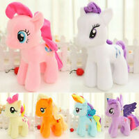 "10"" 25CM My Little Pony Horse Figures Stuffed Plush Soft Teddy Doll Toy Kid Gift"