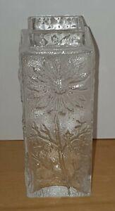 Vintage Dartington Marguerite Daisy Glass Vase By Frank Thrower VGC