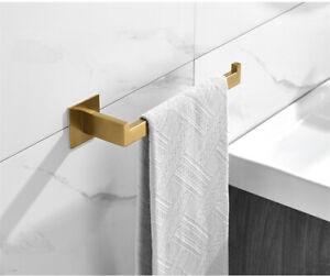 Towel Ring Bathroom Organizer Hangers Holder Brushed Gold No-drilling Towel Rack