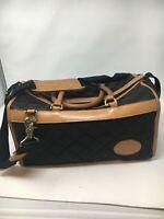Boyt Runaways Bag Black Nylon Brown Leather Duffle Weekender Carry-On  Bag