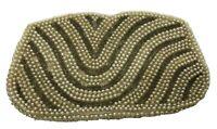 "Vintage 40's-50's Clutch Purse John Wind Imports Pearl Beaded Bag Japan 7"" x 4"""