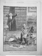1889 UI5 TABLEAU LOUIS GUNNIS NETTOYAGE ZELE BROSSAGE VIOLON CUVETTE EAU CHAUDE