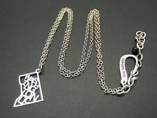 "$28 Kris Nations *WASHINGTON DC* Pendant Fashion Necklace Chain Silvertone 19"""