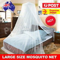 Large White Mosquito Net Canopy Double Queen King Bed Fly Insect Protect AU