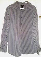 Mens AXCESS Dress Shirt Size XL Plum Black Gray Stripes