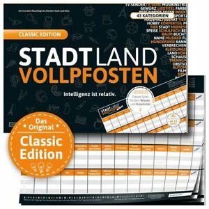 DENKRIESEN Stadt Land Vollpfosten Classic XL Edt. NEU Party Gesellschaftsspiel