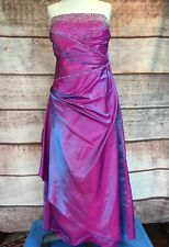 Strapless Beautiful JOLIE Prom Iridescent Pink & Purple Dress Size 22 807008