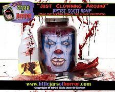 "Clown Monster ""Head in Jar"" Halloween/Horror Prop/Decor-  Fresh Red Version"