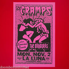 THE CRAMPS 1998 Original 11x17 Concert Poster. Portland Oregon. Punk. MINT.