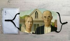 American Gothic face mask (Grant Wood)
