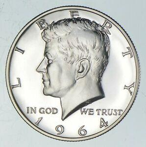 ERROR 1964 TRANSITIONAL Rev PF Kennedy Half Dollars 90% Silver Tough Coin *401
