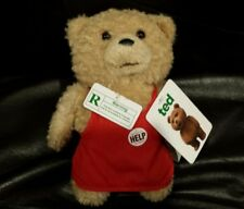 "Ted Plush Talking Bear Rated R 8"" NEW"