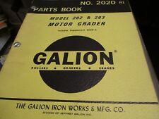 New Galion 202 203 Motor Grader Parts Book Manual