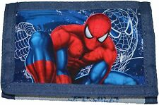 Spiderman Dark Blue Shiny Pvc and Canvas Wallet