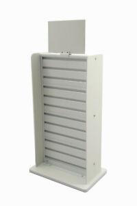 White Slatwall Display Countertop Rack POP POS Retail Stand