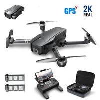Holy Stone HS720 Foldable GPS Drone 2K Camera Brushless 5G FPV 2 Batteries +Case