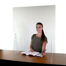 Sneeze Guard Acrylic Plexiglass Table Desk Checkout Counter Shield 35.5H x 29.5W