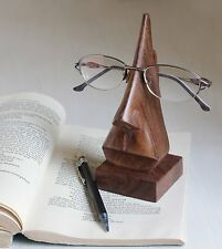 Classic Hand Carved Rosewood Nose-shaped Eyeglass Spectacle Holder