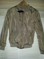 Size 8 New Look Light Khaki Green Padded Bomber Jacket Coat/Spring/Ladies/BNWT