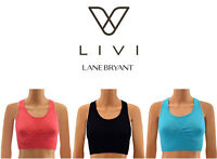 LIVI Active by Lane Bryant Women's Low Impact Sports Bra in 3 Colors Sizes M-1X