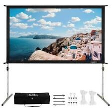 100 Standing Portable Fast Folding Projector Screen Withcarry Bag Indoor Outdoor